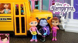 Vampirina Bedroom School Morning Routine Elsa & Anna Toddlers - Scare B & B Dollhouse Playset