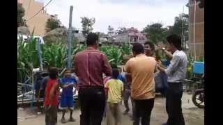 Nepali Lok Songs Bihe garchha Dancing with Caild