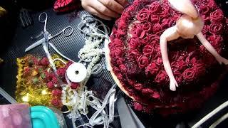 عروس بسلة علبة اكسسوارات بشرائط الدانتيل والورود الجزء  الثاني