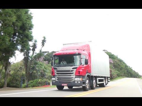 Programa Fique Por Dentro Test drive no caminhão Scania