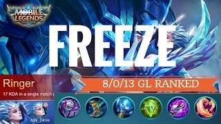 Freeze + Giveaway! Mobile Legends Aurora 8/0/13 Glorious Legend Ranked Gameplay with Commentary