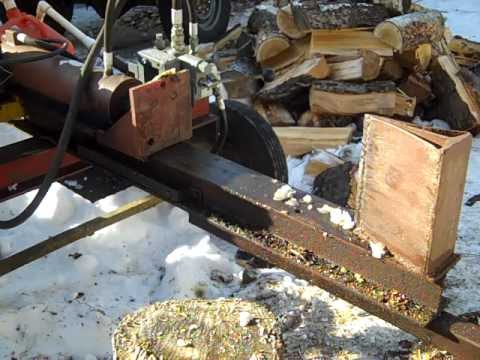 How I built my cheap hydraulic log splitter Under 200 Homemade log splitter