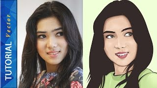 VECTOR VEXEL PHOTOSHOP TUTORIAL FACE #BASIC 01 (Isyana Sarasvati)