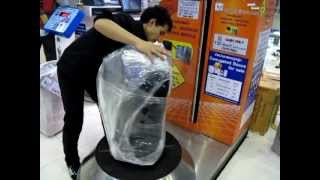 Bangkok Suvarnabhumi International Airport Luggage Wrapping 2