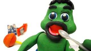 Green Baby has FOUND NEW TOOTH - Stop Motion Animations for Kids