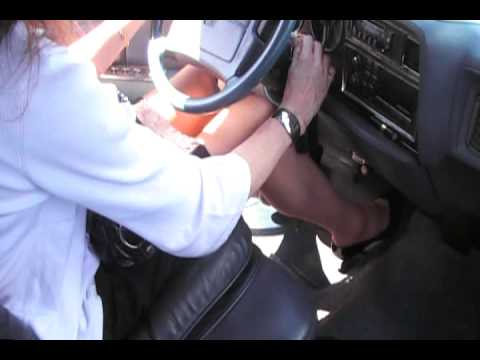 Black patent 4 pumps cranking and driving pt1