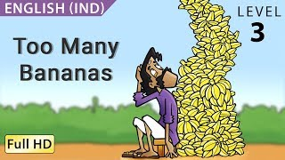 """Too Many Bananas: Learn English (IND) with subtitles - Story for Children """"BookBox.com"""""""