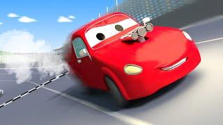 Jerry el auto de Carreras ! Tom la Grúa en Auto City | Dibujos animados para niñas y niños