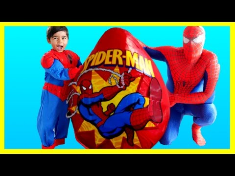 Xxx Mp4 SPIDERMAN GIANT EGG SURPRISE TOYS Spiderman Opening Surprise Toys Spiderman Videos IRL Kids Video 3gp Sex