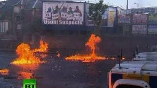 Petrol bombs rain down as police, Catholics clash in Belfast riots