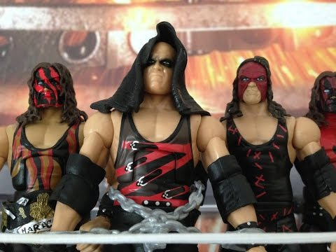 WWE Mattel Elite Ringside Collectibles Exclusive Kane wrestling figure collection and review