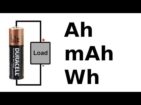 🔋 Battery amp-hour, watt-hour and C rating tutorial