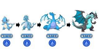 Pokemon Type Swap #34: Charmander Evolution Water Type Fanart