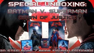 Special Unboxing - Batman vs Superman - Batman & Superman - Collector´s Editionen + 3 D Steelbook