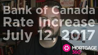 Bank of Canada Raises Interest Rates For First TIme in 7 Years to 0.75%
