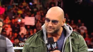 WWE Raw 1 27 2014 Brad Maddox, Randy Orton, Batista, Brock Lesnar Segment