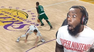 Kyrie Irving Breaks Lonzo Ball's ANKLES! Lakers vs Celtics Ep 37