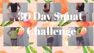 🍑30 Day Squat Challenge🍑