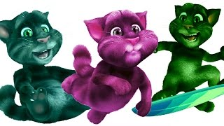 Talking Tom Gold Run Colors - Learn Colors for KIDS TODDLERS BABY & CHILDREN 2017