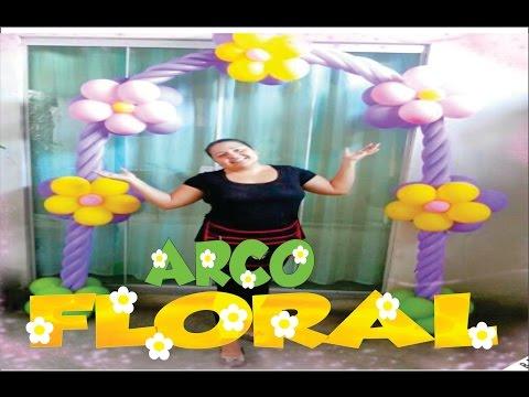 Como fazer Arco de Balões FLORAL
