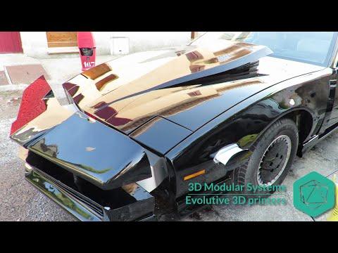 EN Knight rider replica K2000 car customized with a 3D printer