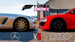 FORZA HORIZON 2 - MERCEDES VS AUDI (Xbox One) / Lets Play Forza Horizon 2