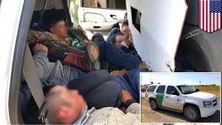 Illegal immigration: Fake 'US border patrol' SUV busted bringing 12 migrants into Texas - TomoNews