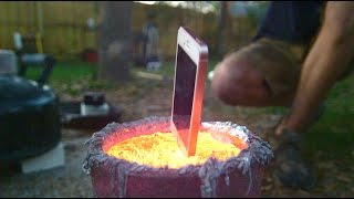 iPhone in Molten Aluminum