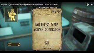 Fallout 4 (Abandoned Shack) Federal Surveillance Center K-21B HD