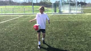 12 year old boy football freestyler