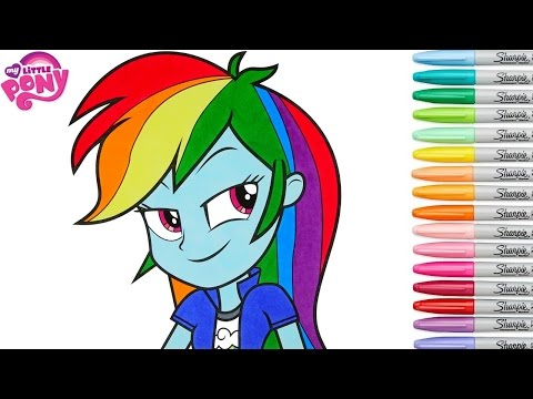 My Little Pony Coloring Book Rainbow Dash Equestria Girls MLP MLPEG MLPEQG Colouring Pages SPEED COL