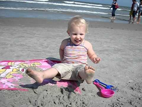 Homokozas az Atlanti ocean partjan Cocoa Beach
