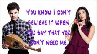 Glee - Don't You Want Me Video Lyrics HQ