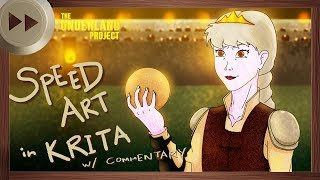Queen Luxa Early Concept Art - KRITA SPEED ART and VLOG | The Underland Project - EPISODE 2