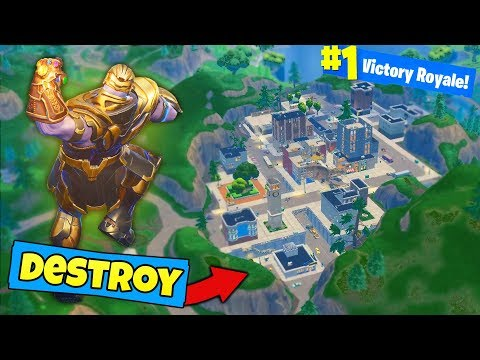 Can THANOS DESTROY TILTED TOWERS Fortnite Battle Royale