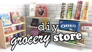 DIY - How to Make a Miniature Grocery Store!