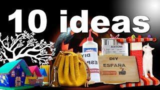 10 Manualidades o trucos fáciles hechos con reciclaje