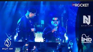 Así fue el encuentro de Nicky Jam con su imitador invidente