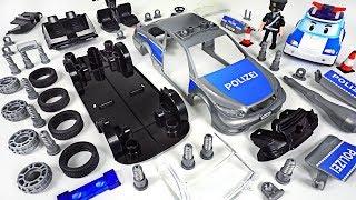 Villain broke car! Robocar Poli, Tayo! Repair with Revell Police Car assembly Model Kit- DuDuPopTOY