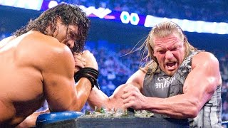 Triple H battles The Great Khali in Indian Broken Glass Arm Wrestling match: SmackDown, Aug.8, 2008