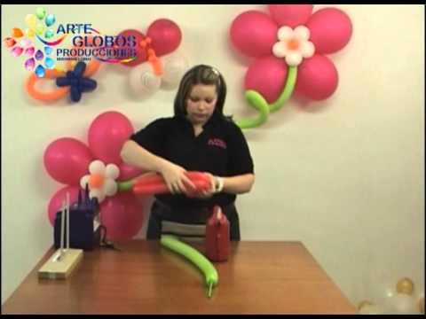Curso de Globoflexia Basica. Flor Fantasia twister 260q. Baby Shower Cumpleaños