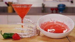 Vampire Martini Cocktail Recipe | Halloween Drink Ideas | Happiest Hour