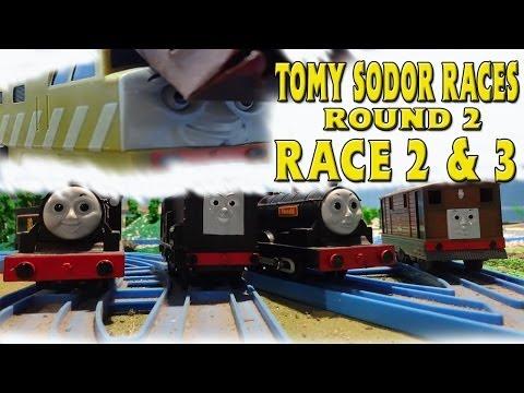 Tomy Sodor Races Toby vs Donald & Diesel vs Douglas