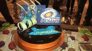 Mumbai Indians won   Big party after victory   IPL 2017