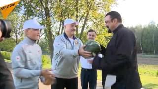 Actor Steven Seagal Gets a Taste of President Lukashenko