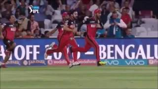 Semifinal 1  RCB vs GL – ipl 2016 highlights   RCB match winning celeberation