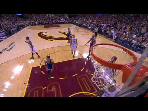 LeBron James Controls dunk of Stephen
