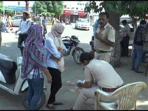 Haryana Police Action Against Traffic Rule Bracker Girls at Karnal