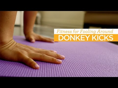 Fitness for Fooling Around: Donkey Kicks Pose