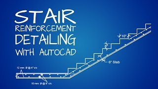 Stair Reinforcement Detailing Drawing With Autocad